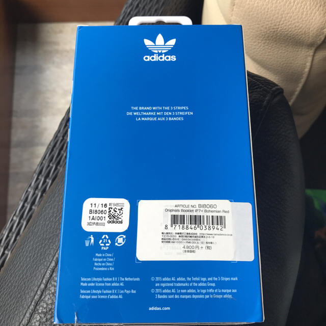 adidas(アディダス)のadidas アディダスiPhone7plus 手帳型ケース ♡ほぼ新品 スマホ/家電/カメラのスマホアクセサリー(iPhoneケース)の商品写真