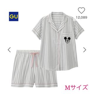 ジーユー(GU)の新品未使用 GU ジーユー ミッキー パジャマ グレー(パジャマ)