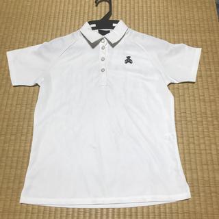 ウィルソン(wilson)のウィルソンベア★ポロシャツ★ホワイト白★ゴルフテニスに!(ウェア)