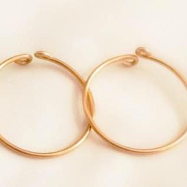 再販◯ひと粒ゴールドのリングset◯ ワイヤーリング ハンドメイド ハンドメイドのアクセサリー(リング)の商品写真