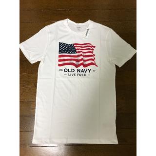 オールドネイビー(Old Navy)の【新品】新作 OLD NAVY 2017 星条旗 USA国旗 Tシャツ XS(Tシャツ/カットソー(半袖/袖なし))