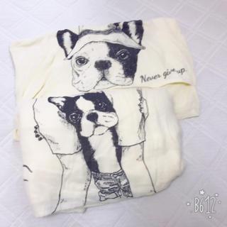 フェリシモ(FELISSIMO)のフェリシモ 動物掛け布団カバーピローカバーセット イヌ(シーツ/カバー)