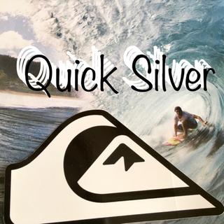 クイックシルバー(QUIKSILVER)のQUIKSILVERクイックUS限定型抜きニュースクールICONステッカー(サーフィン)