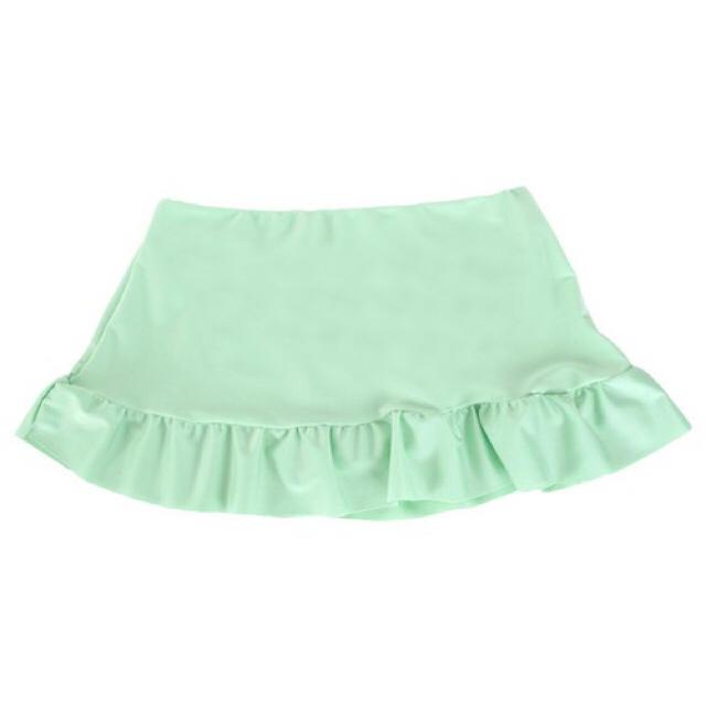 titivate(ティティベイト)のフェイクレイヤードフリルビキニパンツ グリーン 水着 レディースの水着/浴衣(水着)の商品写真