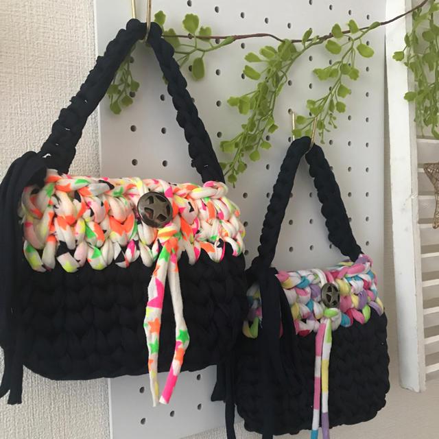 キッズミニバッグ サニタリーポーチ 2色 ズパゲッティ キッズ/ベビー/マタニティのこども用バッグ(その他)の商品写真