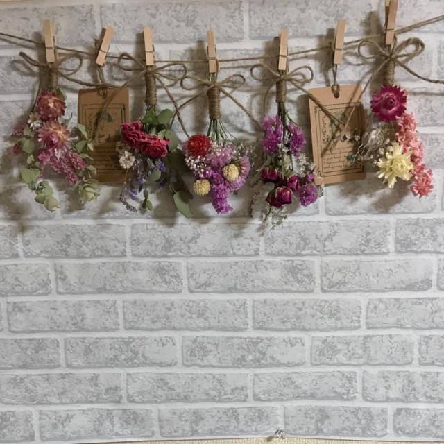 ミニスワッグ5点セット☆ガーランド♪⑦ ハンドメイドのフラワー/ガーデン(ドライフラワー)の商品写真