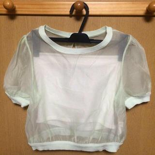 スナイデル(snidel)のオーガンジーショートトップス(Tシャツ(半袖/袖なし))