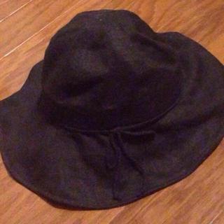 ムジルシリョウヒン(MUJI (無印良品))の日除け  ロープリボン 帽子(ハット)
