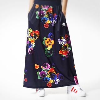 アディダス(adidas)のアディダス レア 花柄スカート(ロングスカート)
