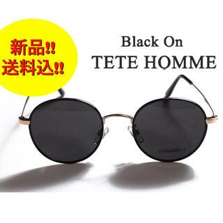 テットオム(TETE HOMME)の【新品】Black on TETE HOMME サングラス 丸眼鏡 ユニセックス(サングラス/メガネ)