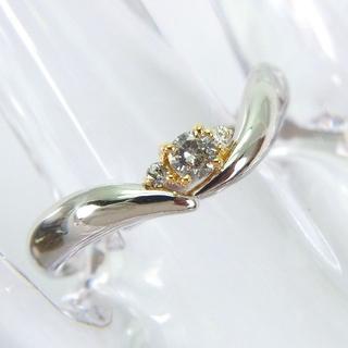 Pt900/K18 ダイヤモンド リング[636-3](リング(指輪))