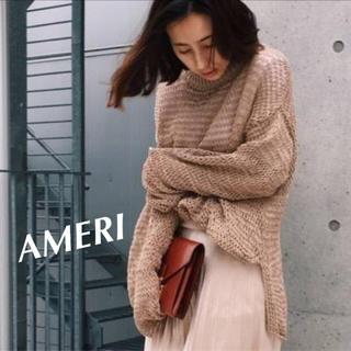 アメリヴィンテージ(Ameri VINTAGE)のAMERI♡TAPE YARN SUMMER KNIT テープヤーンサマーニット(ニット/セーター)