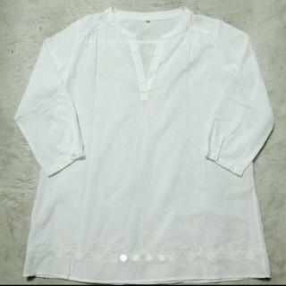 ムジルシリョウヒン(MUJI (無印良品))のフナ様専用 無印良品 白 ブラウス シャツ Sサイズ 7分丈(シャツ/ブラウス(長袖/七分))