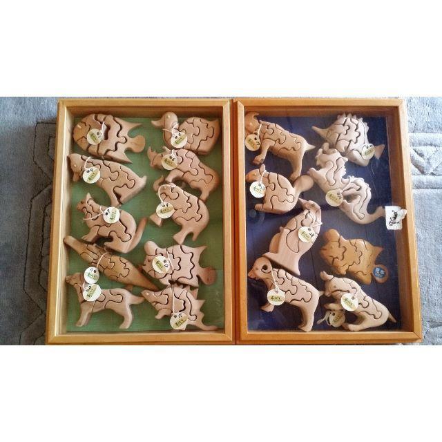 自然素材の玩具 立体3Dパズル⑦ネコ キッズ/ベビー/マタニティのおもちゃ(知育玩具)の商品写真