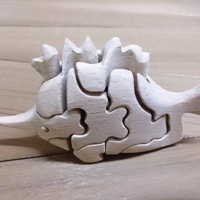 自然素材の玩具 立体3Dパズル⑳メカジキ キッズ/ベビー/マタニティのおもちゃ(知育玩具)の商品写真