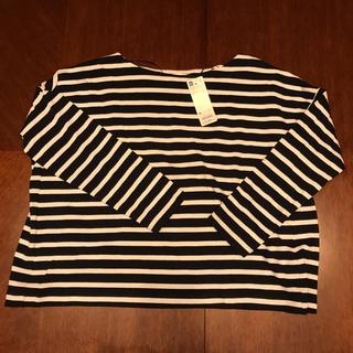 ジーユー(GU)のneku様専用 GU ボーダーTシャツ 新品タグ付 M(Tシャツ(長袖/七分))