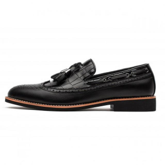 メンズビジネスシューズ PUレザー ブラック メンズの靴/シューズ(ドレス/ビジネス)の商品写真