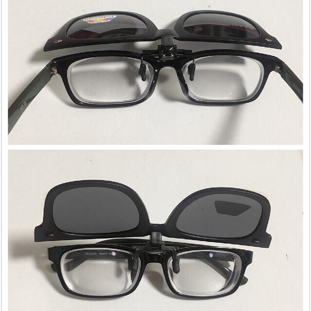 近視 サングラス 偏光 跳ね上げ式 メガネ掛けサングラス メンズのファッション小物(サングラス/メガネ)の商品写真