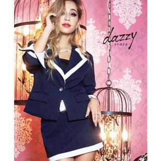 デイジーストア(dazzy store)のキャバスーツ♡ミニ♡袖付き♡キャバ♡ドレス(スーツ)