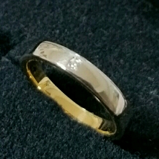 ユキコハナイ(Yukiko Hanai)のK18 pt1000 ダイヤ付き指輪(リング(指輪))