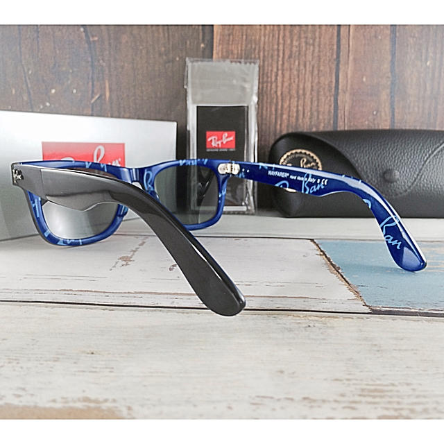 Ray-Ban(レイバン)のレイバンRayBanRB2140 1WAYFARER〈ブルーテキスト〉  メンズのファッション小物(サングラス/メガネ)の商品写真