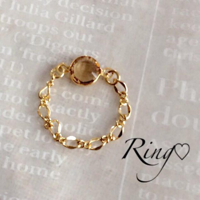 ハンドメイド*チェーンリング レディースのアクセサリー(リング(指輪))の商品写真