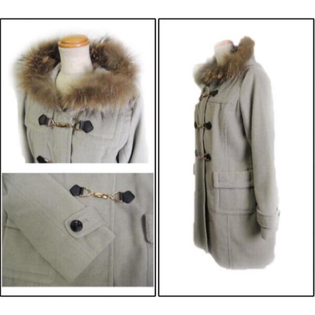 INGNI(イング)のINGNI/イング☆ファー付きダッフルデザインコート グレー レディースのジャケット/アウター(毛皮/ファーコート)の商品写真