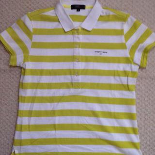ニジュウサンク(23区)のストライプのポロシャツ(シャツ/ブラウス(半袖/袖なし))