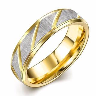 ステンレスリング シルバー ゴールド コンビ ユニセックス ペアリング(リング(指輪))