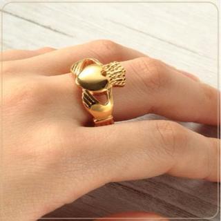 激安!ゴールド チタンリング 愛 友情 幸せの象徴♡(リング(指輪))