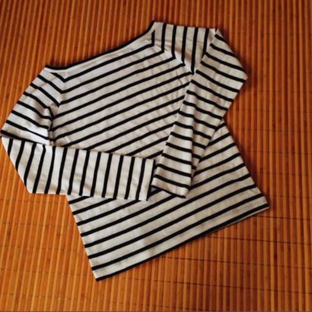 GU(ジーユー)のボーダーT レディースのトップス(Tシャツ(長袖/七分))の商品写真