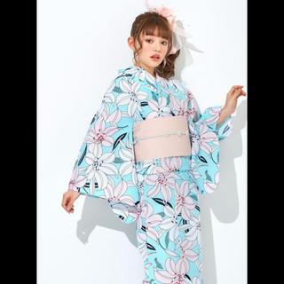 グレイル(GRL)のGRL 爽やかモダン百合 浴衣3点セット 新品 (浴衣)