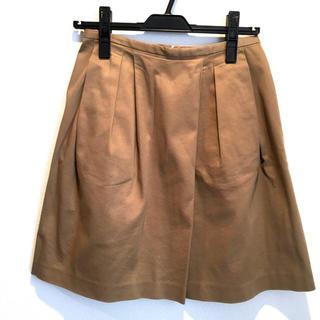 ノーブル(Noble)の【美品特価】Noble★膝丈スカート★ベージュ(ひざ丈スカート)