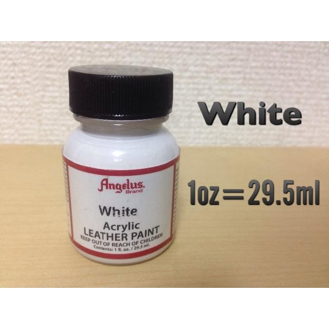 Angelus ホワイト 1oz(29.5ml) ペイント 白 WHITE 塗料 ハンドメイドの素材/材料(その他)の商品写真