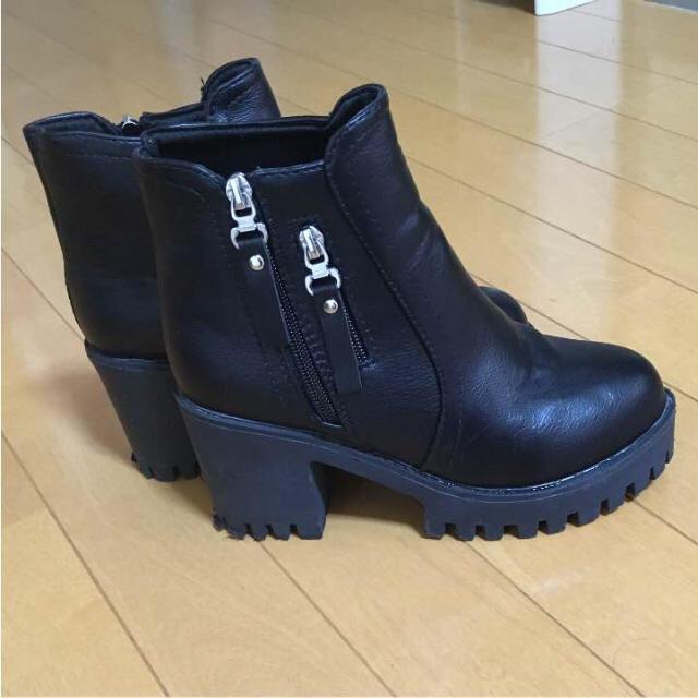 ブーツ  レインブーツ  ブラック 22.5 レディースの靴/シューズ(ブーツ)の商品写真