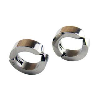 2個 イヤーカフ シルバーチタン フェイクピアス 12.5mm 両耳用(イヤリング)