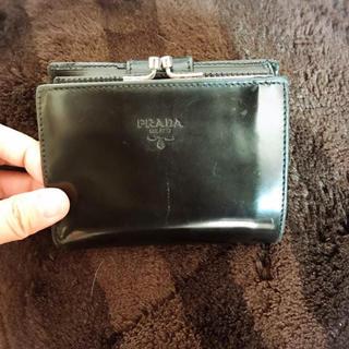 プラダ(PRADA)のプラダ PRADA 二つ折り財布 がま口財布(財布)