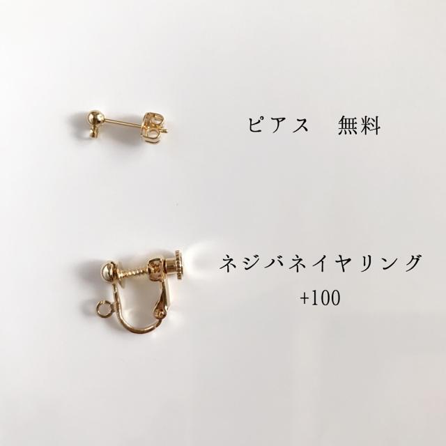 チューブ×スティック(ブラウン)ネジバネイヤリング ハンドメイドのアクセサリー(イヤリング)の商品写真
