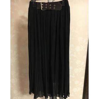 バブラス(BUVRUS)のバブラス プリーツ ブラック マキシスカート(ロングスカート)