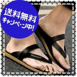 【27.0-27.5cm/ブラック】クラシック ビーサン メンズ 大特価(サンダル)