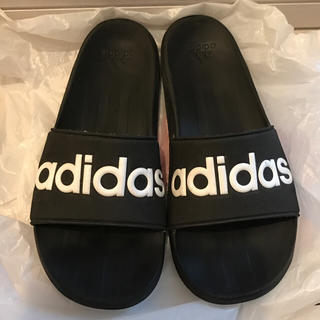 アディダス(adidas)のadidas / サンダル シャワー 25.5 ブラック黒 メンズ スポーツ韓国(サンダル)