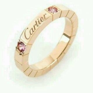 カルティエ(Cartier)のCartier ラニエールリング PGピンクサファイア #48 限定モデル(リング(指輪))