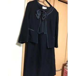 セレモニースーツ  紺 13号(スーツ)