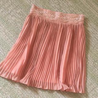 マーキュリーデュオ(MERCURYDUO)のマーキュリーデュオ lux プリーツ スカート ビジュー 美品 S パーティー(ミニスカート)