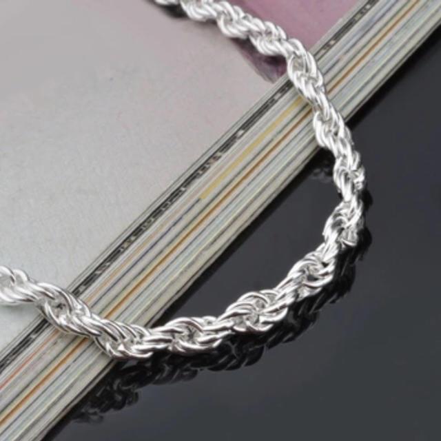 925シルバー ロープチェーン ブレスレット メンズのアクセサリー(ブレスレット)の商品写真