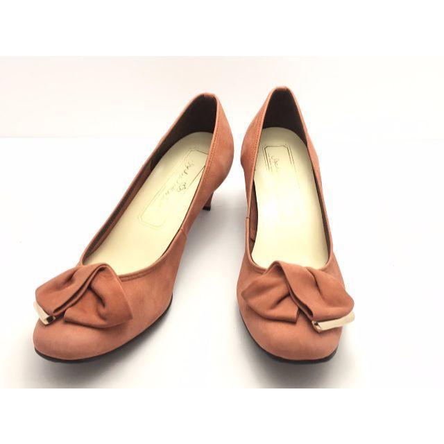 ソフィアコレクション★パンプス★23.0★赤/リボンモチーフ★約75%off レディースの靴/シューズ(ハイヒール/パンプス)の商品写真