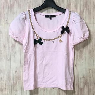 bad2ea0042 バービー(Barbie)のバービー Tシャツ ピンク 飾り リボン M(Tシャツ(