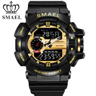 SMAEL 腕時計 防水 スポーツ ミリタリー デジタル アナログ(腕時計(デジタル))