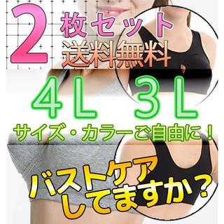 2枚セットナイトブラ★3L,4L補正ブラ☆スポーツブラ☆育乳ブラ (ブラ)