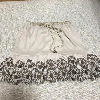 イープローズ(EPROZE)のお花の刺繍スカート(ひざ丈スカート)